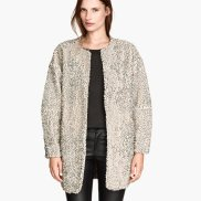 Pile Jacket with Sequins