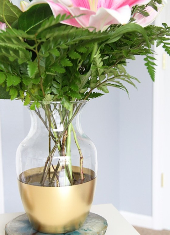 diy-gold-dipped-vase